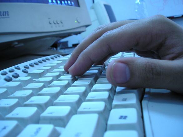 Lapsen tietokoneella