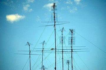 antenne,antennas,sky,transmitting