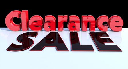 Clearance Sale text