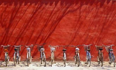Bikes,wall,shadows,transport