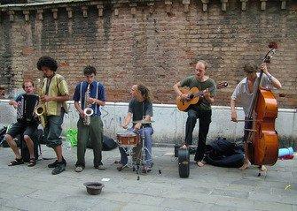 Groupe de jazz à Venise 3
