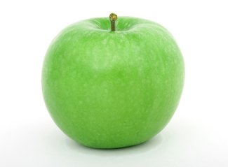 Apple depicting a good diet leading to healthy skin