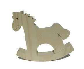 Wooden rocking horse - small toy