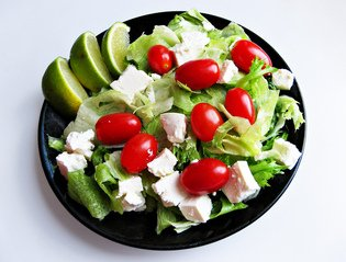 small salad with lime