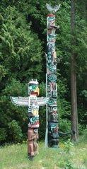 totem poles, Haida culture, ab
