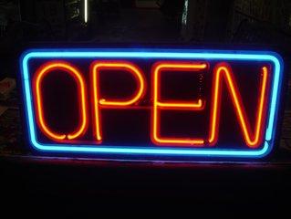Open,open,sign,neon