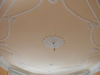 stucco on ceiling