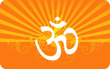 Om In Decorated Yellow