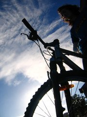 bike,fiets,outdoors,silhouette