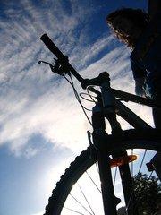 bike,fiets,outdoors,silhouette