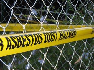 Asbestos,asbestos,warning,school