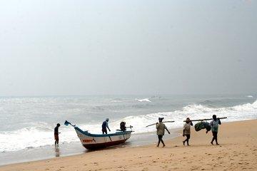 Fisher man at Marina Beach Chennai