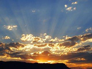 Nombre de rayons de soleil couchant