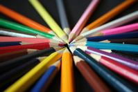 Pencils coloured on black 1
