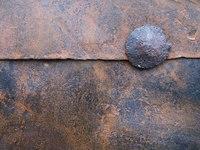 Ancient door metal plates