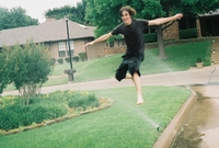 Sprinkler hopping