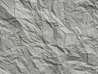 Crumpled white paper 2