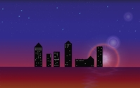 Skyline by night