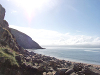 Minard Castle beach