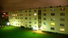 my neighborhood at night