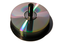 blank CD on spindle 1