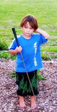 little golfer in New Zealand