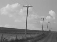 country scene b/w
