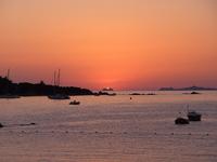 sunset in ajaccio, corsica