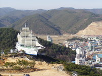 ship on mountain 2