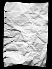 Trashed paper