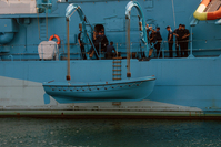Lifeboat on old polish warship 3