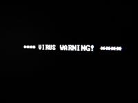 DOS Screen - Virus Warning