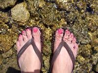 Feet in a Stream