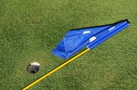 Golf Hole and Flag Pole
