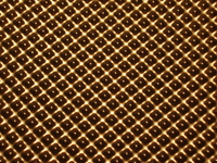 metallic symmetrical bumps