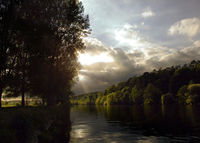 sunset on river lee