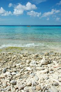 beautiful blue sea at curacao