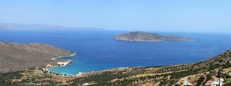 Panorama of Cretan sea