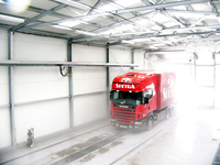 truck entering truckwash