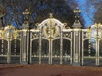Doors of Buckingham palace garden, London