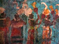 maya painted in Chiapas