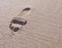 Huella en la arena. It treads in the sand
