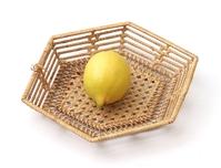 Lemon on the wicker tray