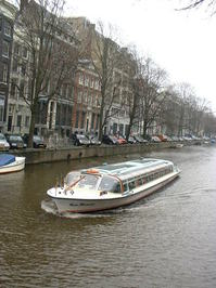Canal Tour Boat, Amsterdam