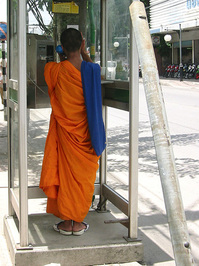 monk @ the phone
