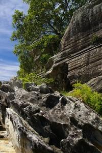 cliffs on balmoral island