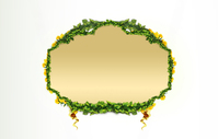 Green leaf border 3