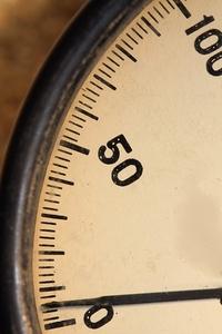 Revolutions meter: 0 to 100