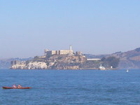 Alcatraz Island and Rowboat