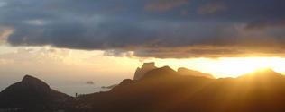 Rio de Janeiro Mountains Sunse
